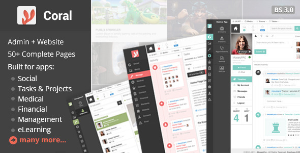 CORAL - App & Website Startup KIT professional website template