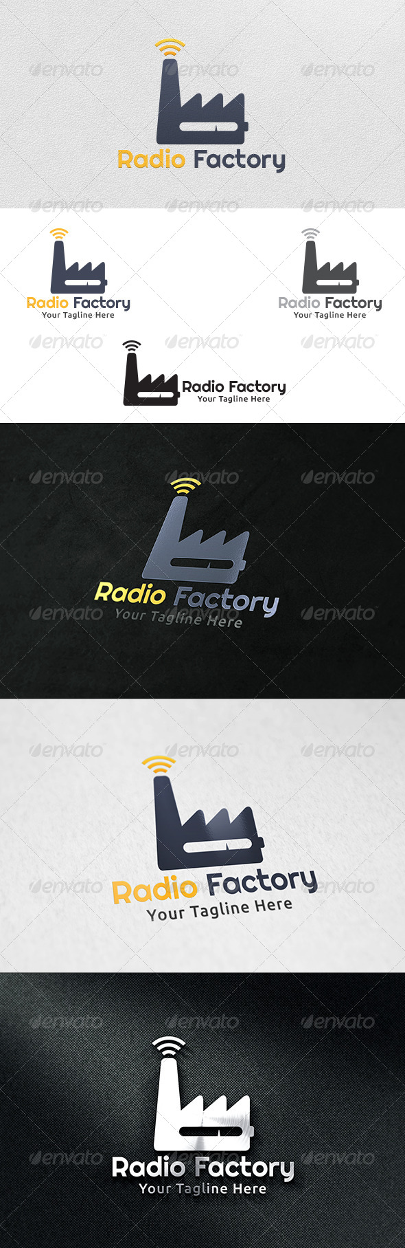 GraphicRiver Radio Factory Logo Template 6205260