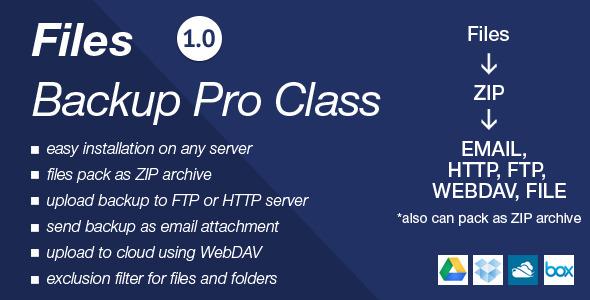 CodeCanyon Files Backup Pro Class 6205714
