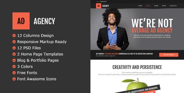 AdAgency HTML Template