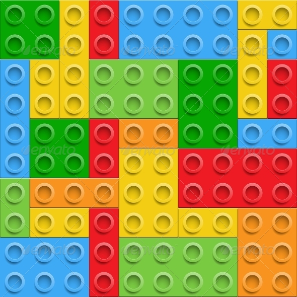 GraphicRiver Plastic Construction Blocks Seamless Background 6205882