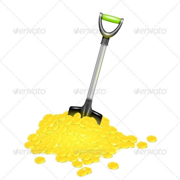 GraphicRiver Shovel in Golden Pile 6205942