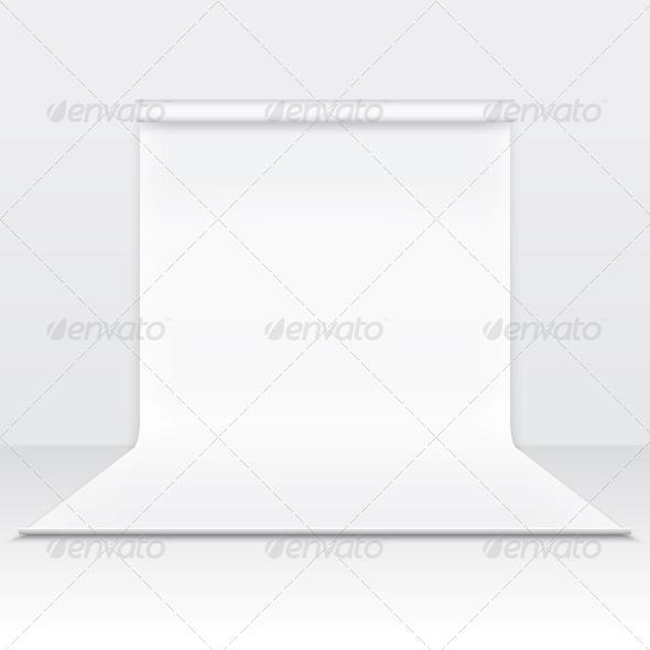 GraphicRiver White Paper Studio Backdrop 6205973