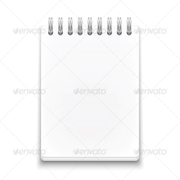 GraphicRiver Blank Spiral Notebook 6205978