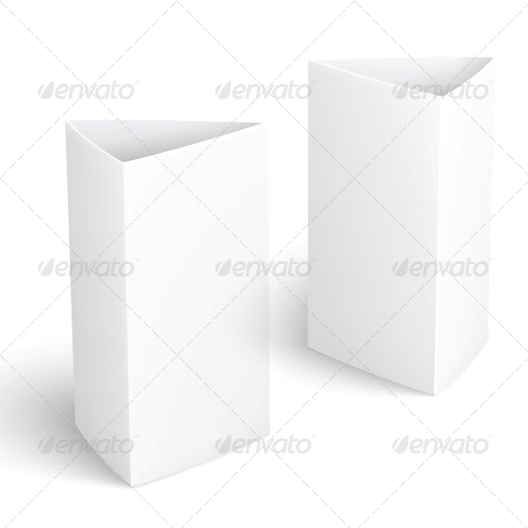 GraphicRiver Blank Paper Vertical Triangle Cards 6205983