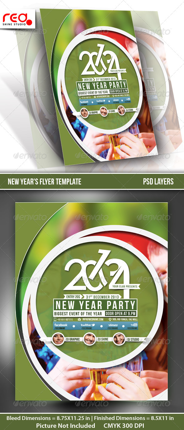 GraphicRiver New Year s Party Flyer & Poster Template 5 6205988