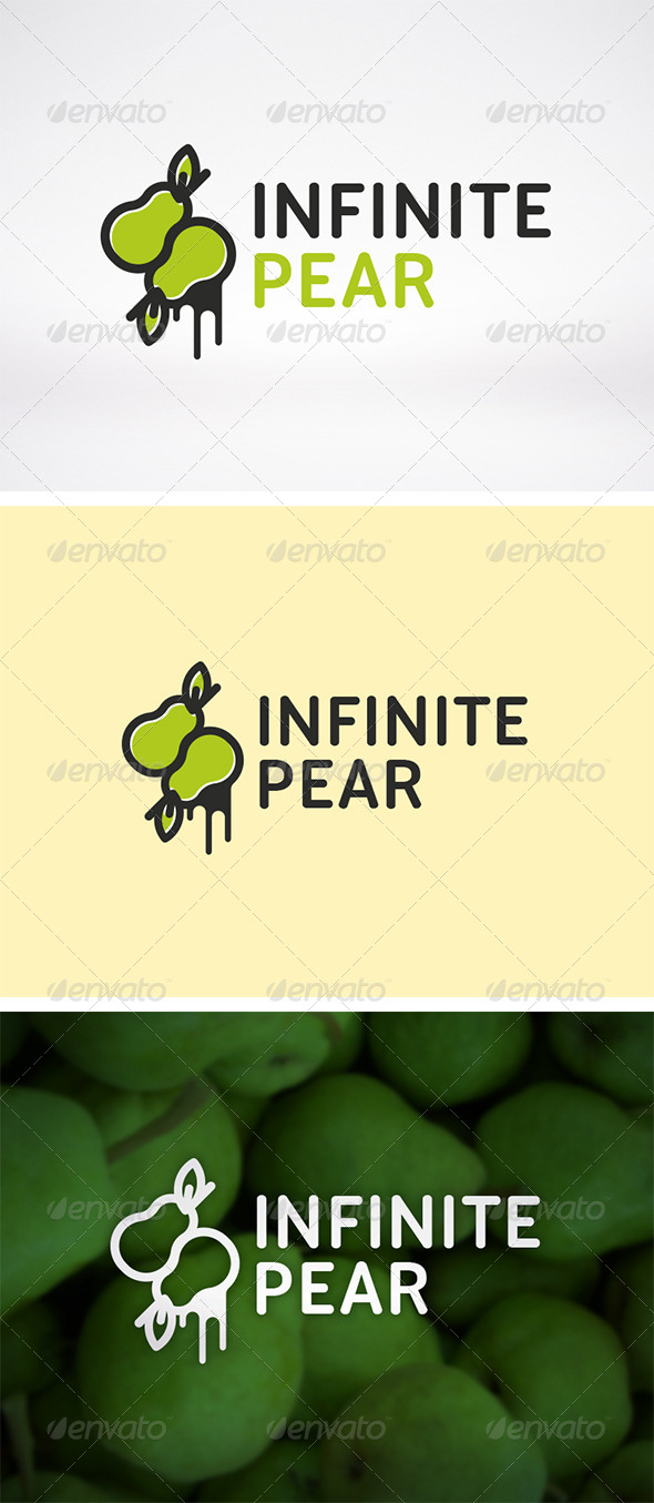 Infinite Pear Logo - Food Logo Templates