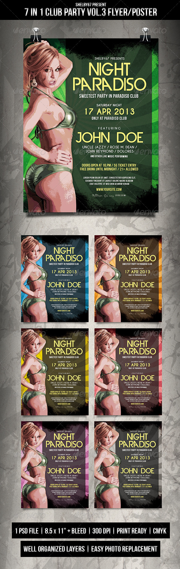 GraphicRiver Club Party Flyer Poster Vol.3 6206154