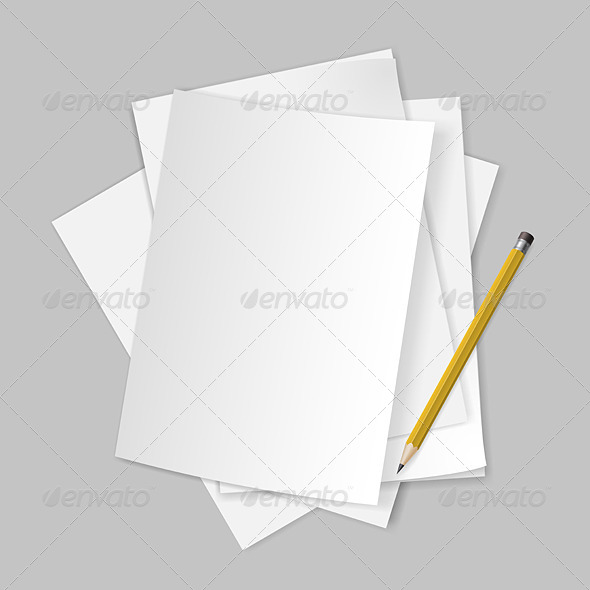 GraphicRiver Papers and Pencil 6206259