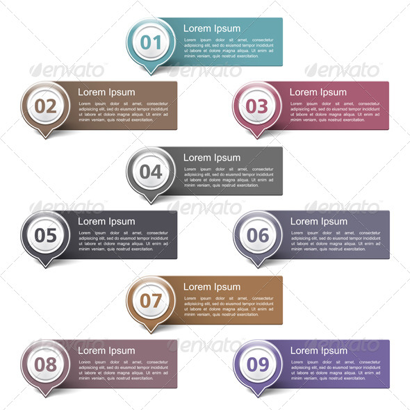 GraphicRiver Design Elements with Numbers 6206803