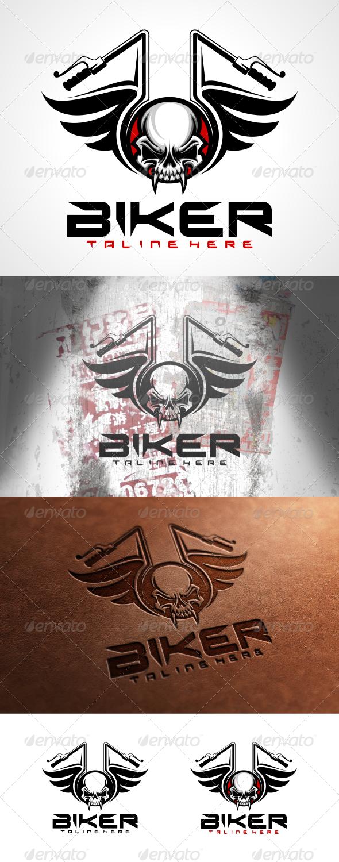 GraphicRiver Biker Logo Template 6206902