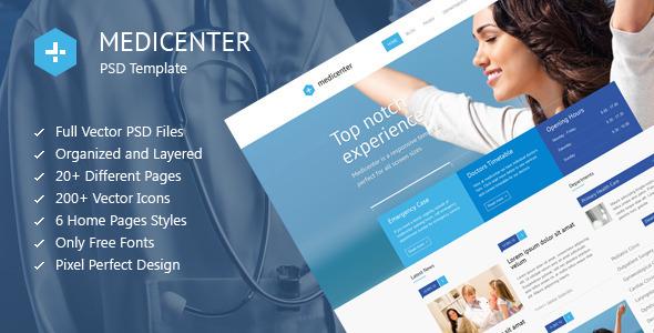 ThemeForest MediCenter Medical Health PSD Template 6207597