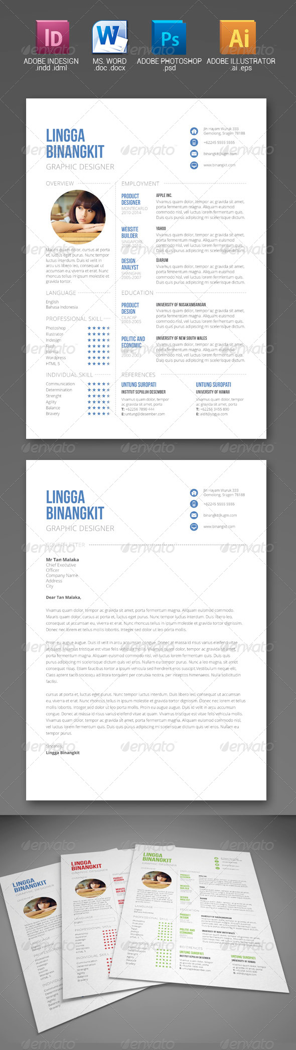 GraphicRiver Sewon Clean Resume Template Volume 6 6207749