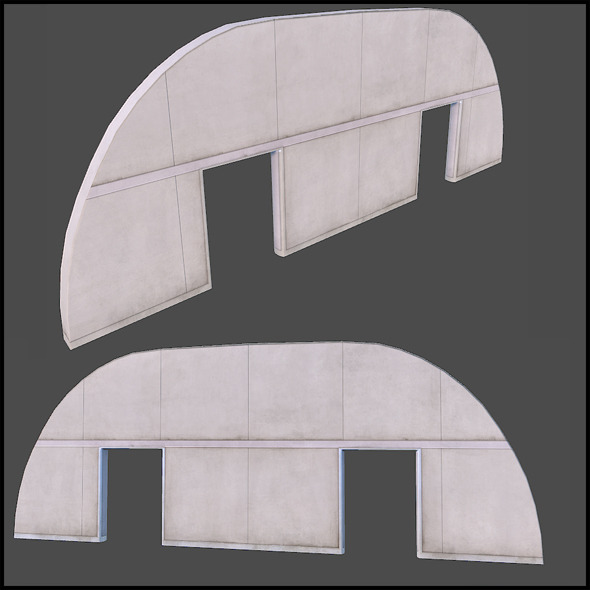 Airplane Bulkheads - 3DOcean Item for Sale