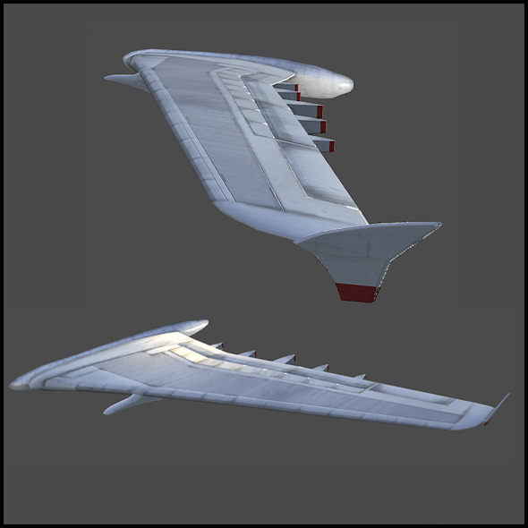 Aircraft Wing - 3DOcean Item for Sale