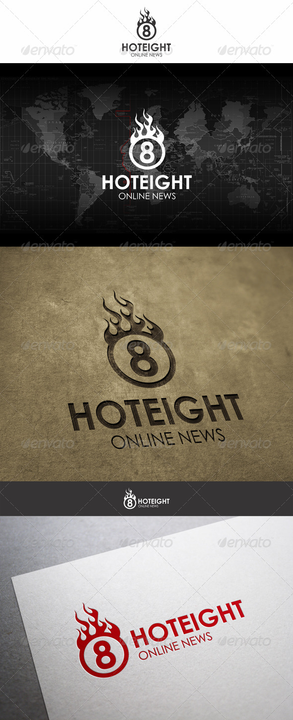 GraphicRiver Hot Eight Fireball Logo 6208378
