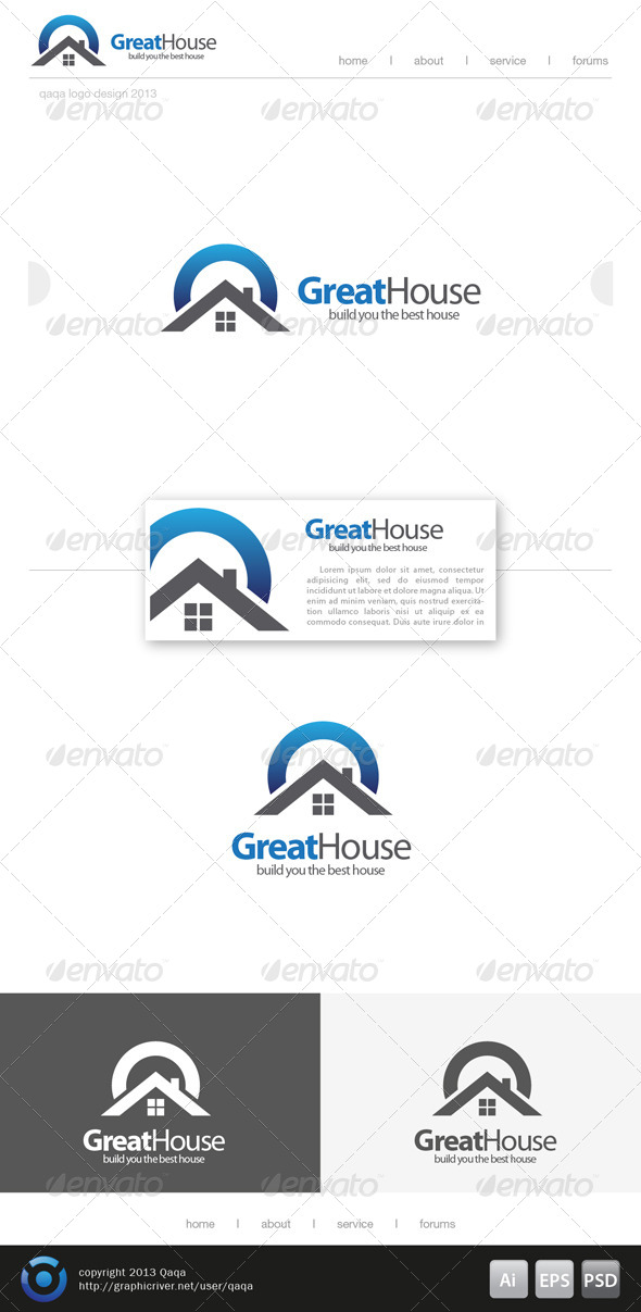 GraphicRiver Great House Logo 6208386