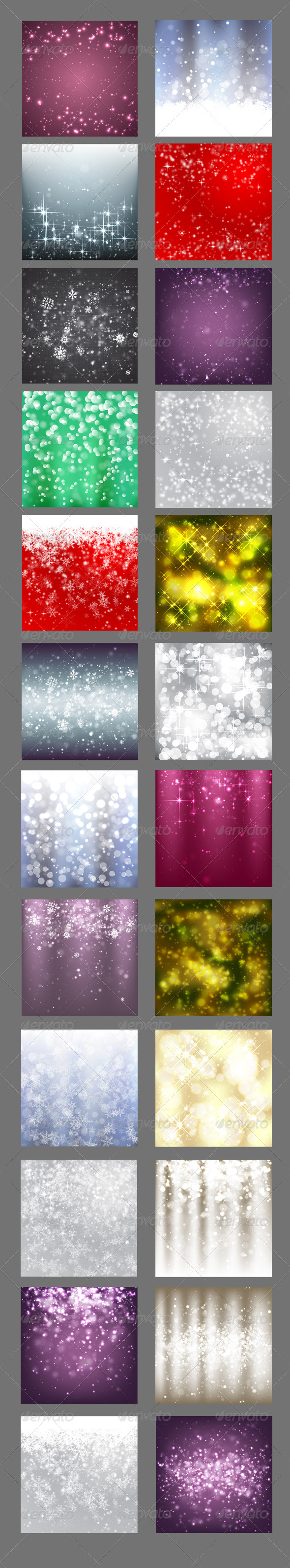 GraphicRiver 24 Christmas Vector Backgrounds 6208389