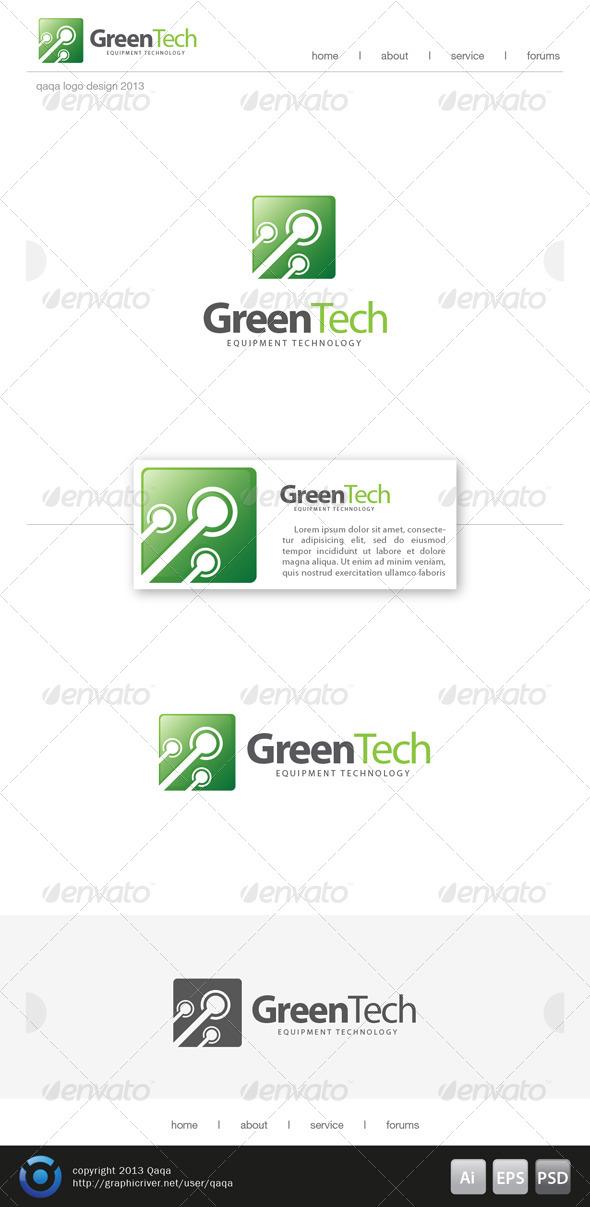 GraphicRiver Green Tech Logo 6208442