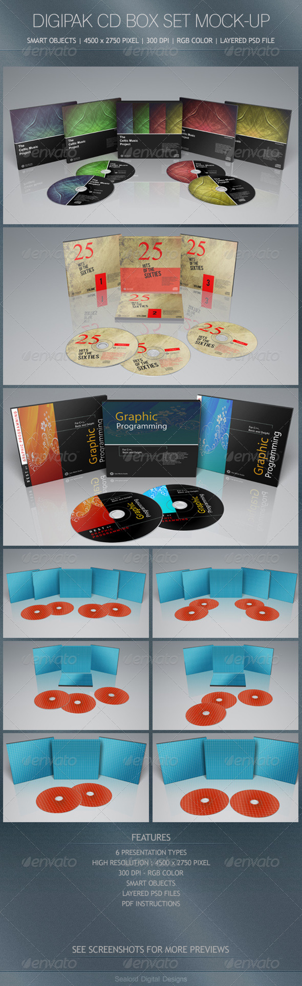 Digipak CD Box Set Mock-Up