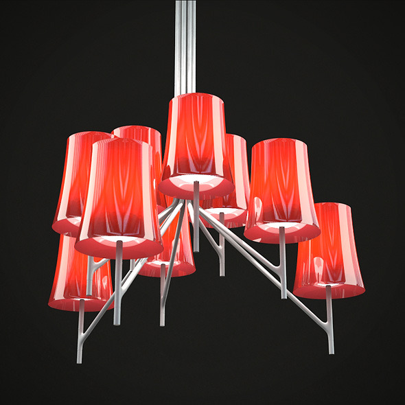 Foscarini - Birdie - Set of 8 Design Lamp HD - 3DOcean Item for Sale