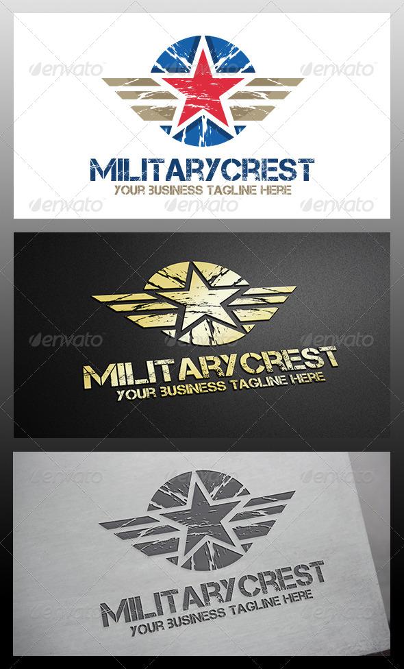 GraphicRiver Military Crest Logo 6208551