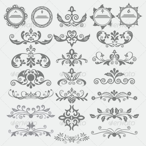 GraphicRiver Vintage Design Elements 6208581