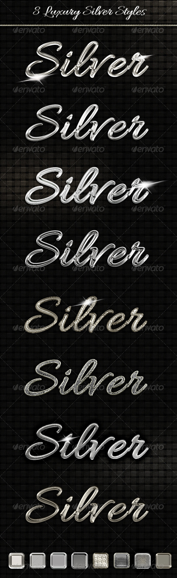 GraphicRiver 8 Luxury Silver Text Styles 6208696