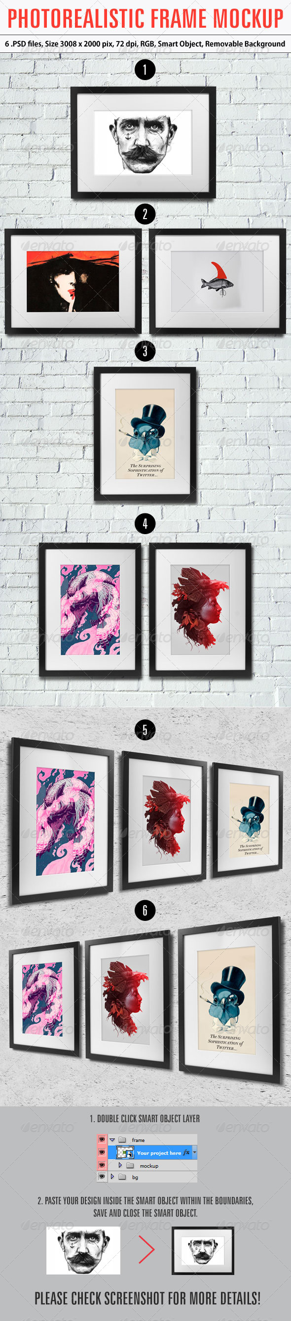 GraphicRiver Photorealistic Frame Mockup 6208915