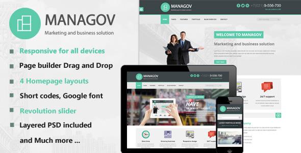 ThemeForest Managov Multi-Purpose WordPress Theme 6183137