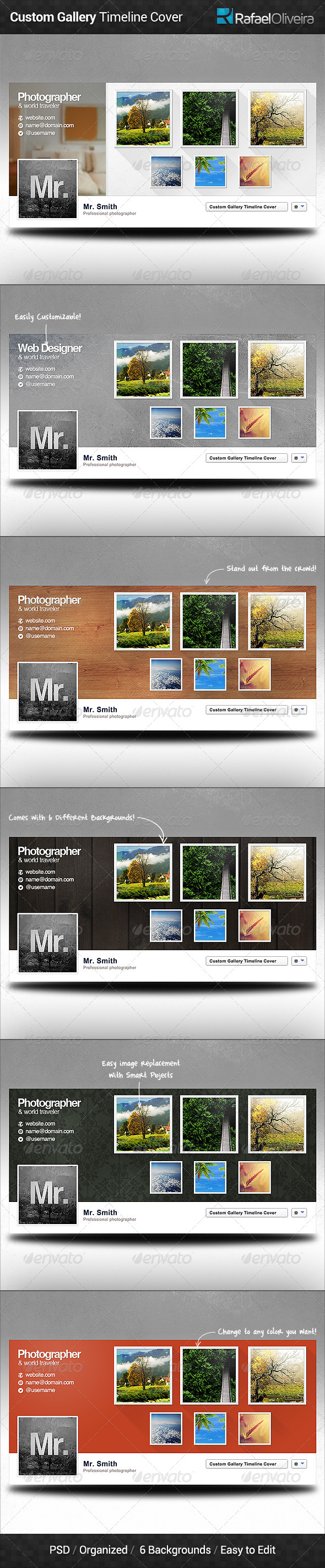GraphicRiver Custom Gallery Facebook Timeline Cover 6209790