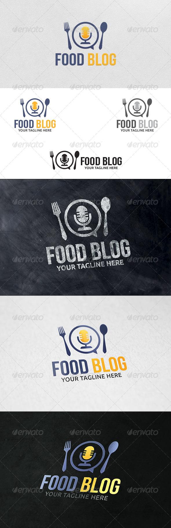 Food Blog - Logo Template