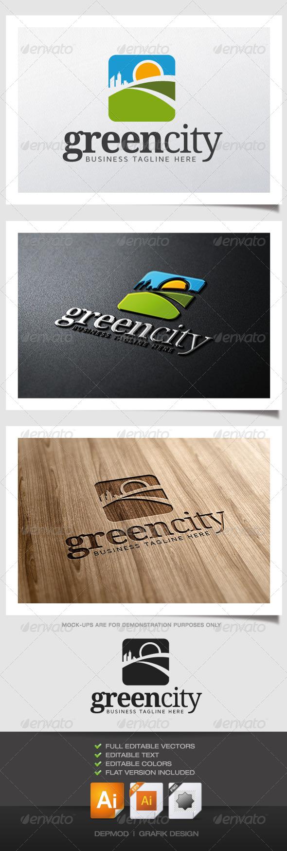 Green City Logo - Symbols Logo Templates