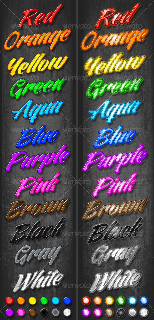 GraphicRiver 24 Colorful Beveled Styles 6210363