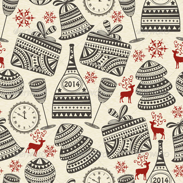GraphicRiver Vector Seamless Holiday Pattern 6210548