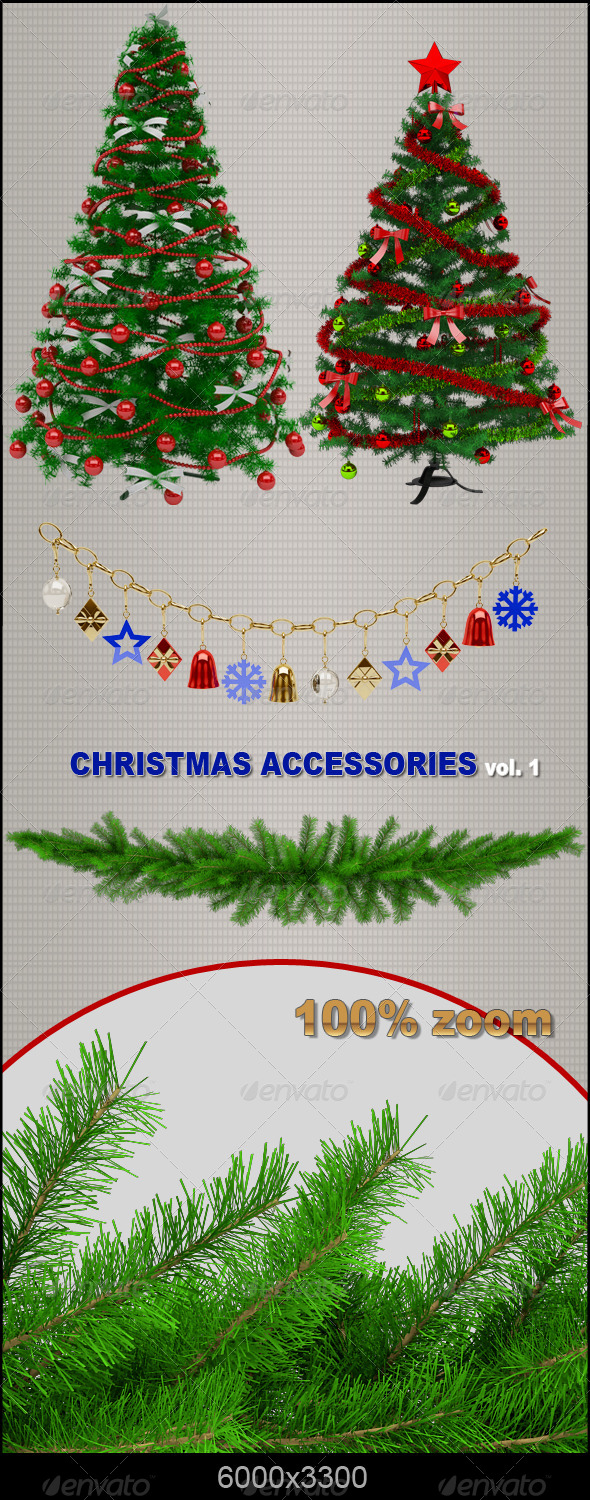 GraphicRiver Christmas Accessories 6210662
