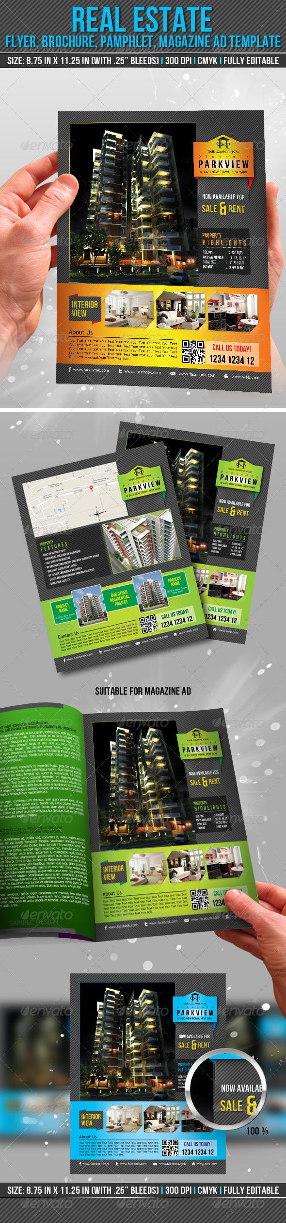 Real Estate Flyer, Brochure, Pamphlet, Magazine Ad