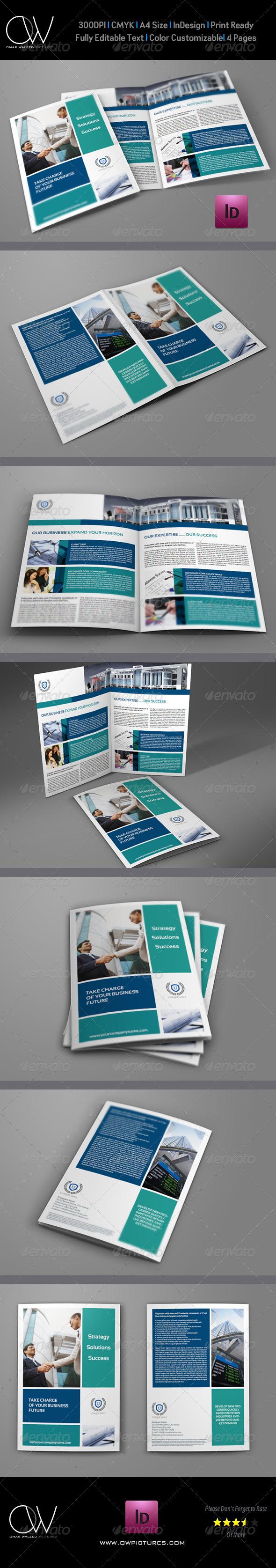 GraphicRiver Company Brochure Bi-Fold Template Vol5 6210778