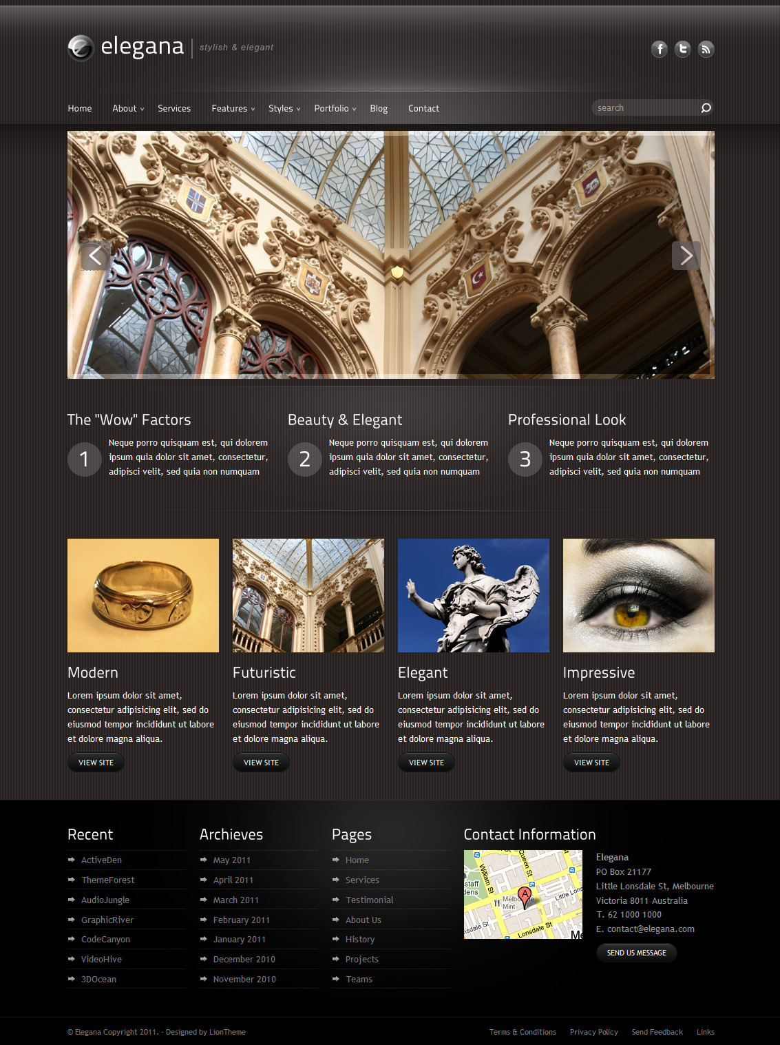 Elegana -  Clean and Elegant Website Template