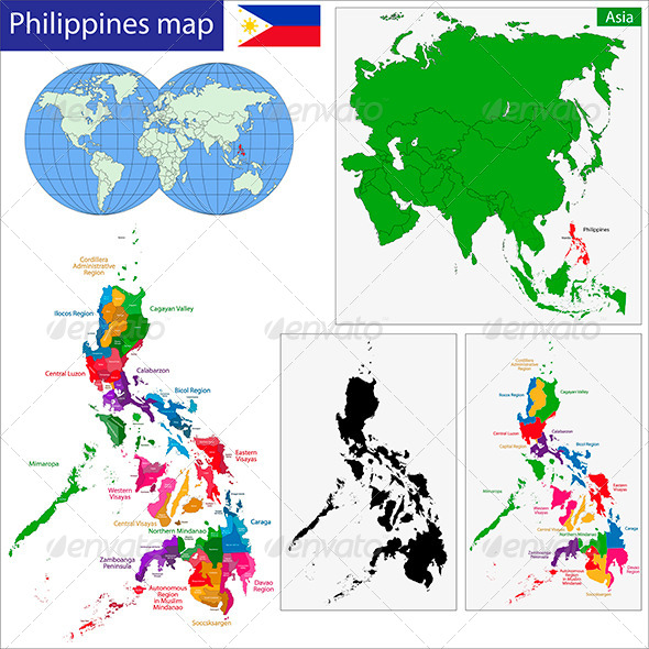 GraphicRiver Philippines Map 6210811