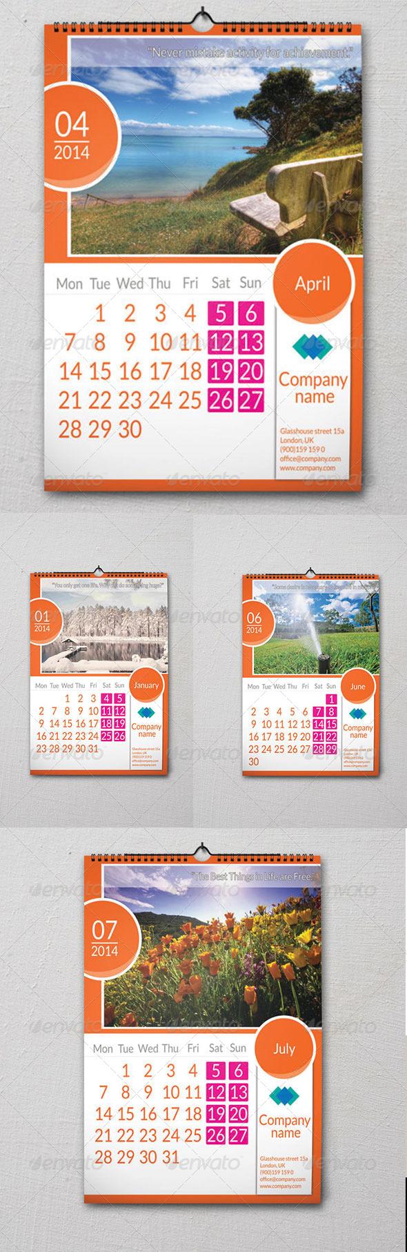 GraphicRiver Wall Calendar 6210865