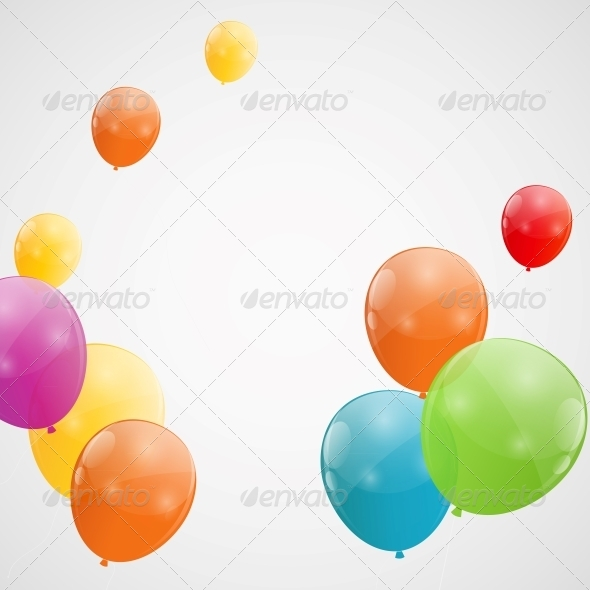 GraphicRiver Color Glossy Balloons Background 6210927
