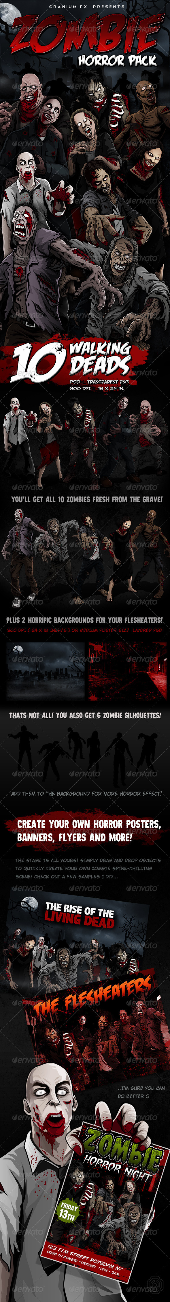 GraphicRiver Zombie Horror Pack 6210930