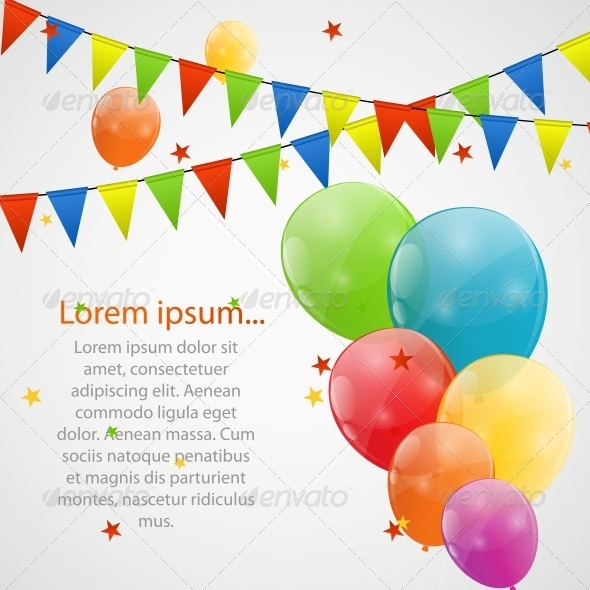 GraphicRiver Color Glossy Balloons Background 6210935