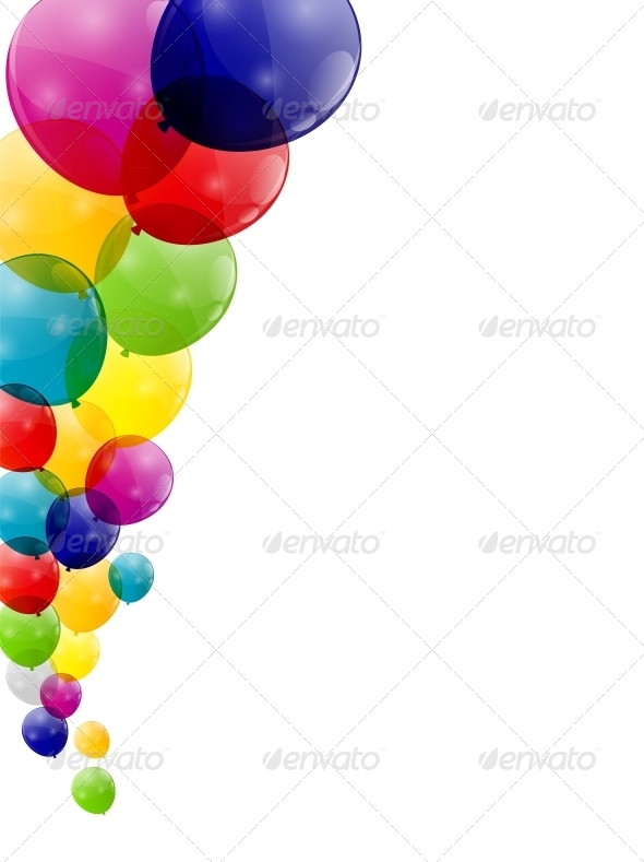GraphicRiver Color Glossy Balloons Background 6210945