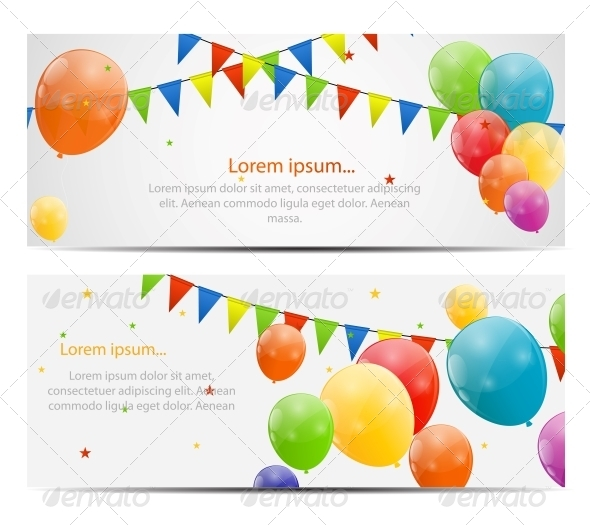 GraphicRiver Color Glossy Balloons Background 6210973