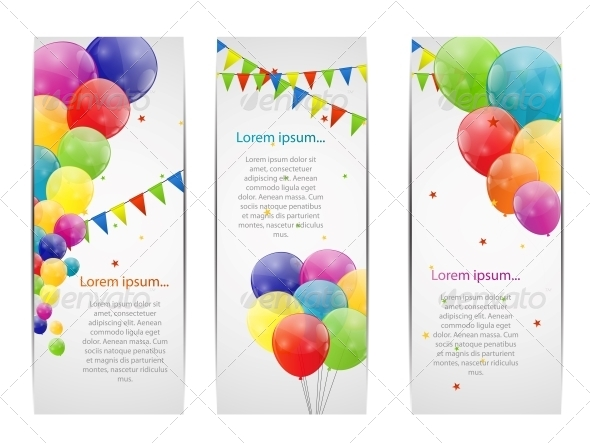 GraphicRiver Color Glossy Balloons Background 6210976