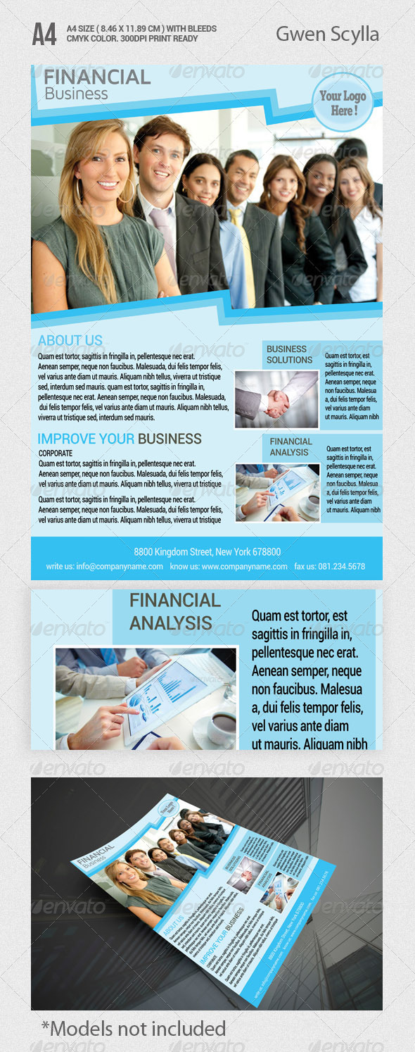 financial services graphics designs templates