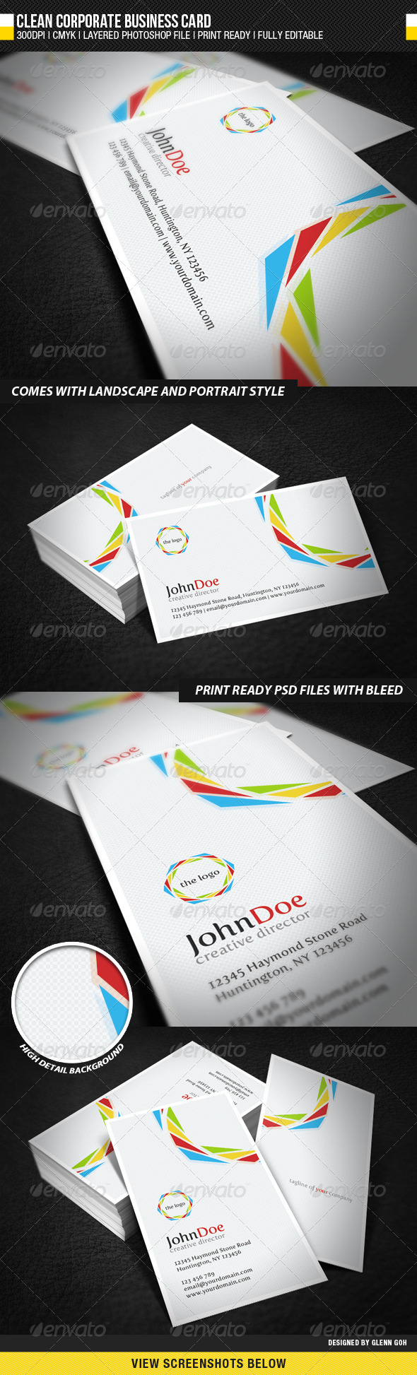 GraphicRiver Clean Corporate Business Card 648573
