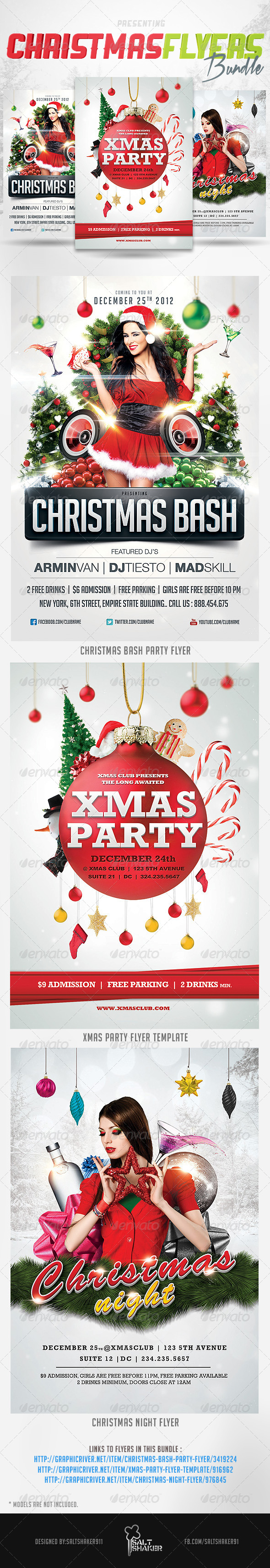 GraphicRiver Christmas Flyers Bundle 6211091